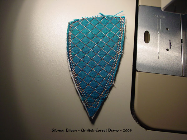 Construction Demo - Quilted Gore Victorian Corset - 22, by Sidney Eileen