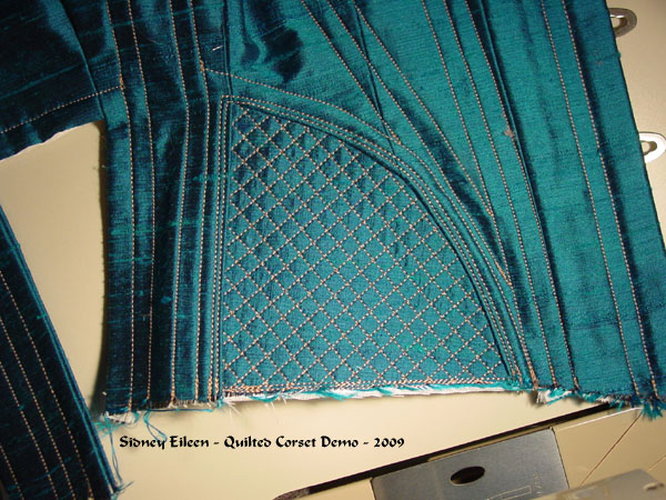 Construction Demo - Quilted Gore Victorian Corset - 28, by Sidney Eileen