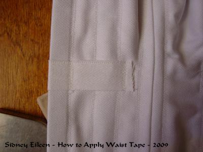 How to add Waist Tape to a Corset - 06, by Sidney Eileen