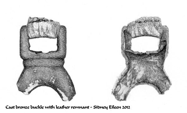 Cast Bronze Buckle, technical illustration