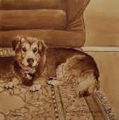 Title: Gigi, Artist: Sidney Eileen, Medium: ink on aquabord