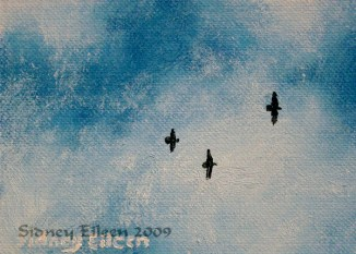 Title: Looking Up ACEO, Artist: Sidney Eileen, Medium: oils on canvas paper