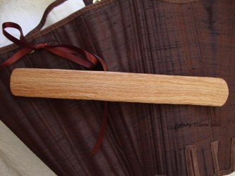 Brown Silk Renaissance Stays - Busk Close-up, by Sidney Eileen
