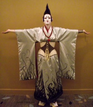 Silver Steampunk Kimono - Kame, by Sidney Eileen