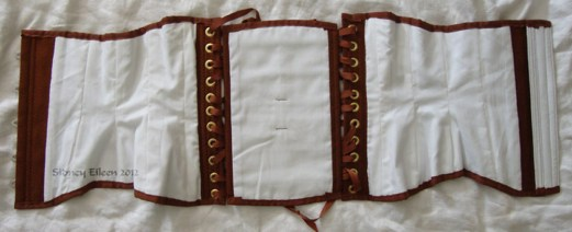Brown Herringbone Underbust - Flat Lining, by Sidney Eileen