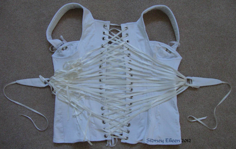 Corded Regency Corset - Back Flat, by Sidney Eileen