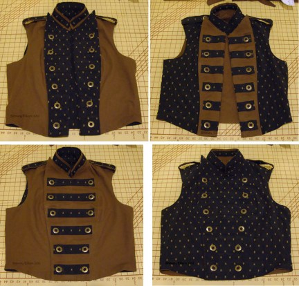 Men's Reversible Vest - All Views, by Sidney Eileen