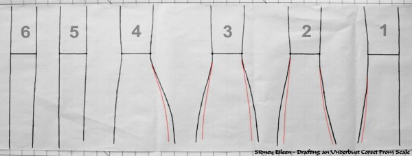 How to Draft an Underbust Corset From Scale, by Sidney Eileen