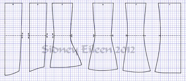 """Curvy"" Proportion Underbust Corset Scale PatternHow to Draft an Underbust Corset From Scale, by Sidney Eileen"