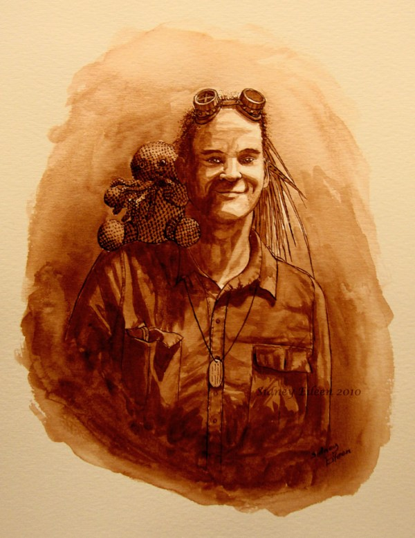 Title: Nathaniel Johnstone - Abney Park, Artist: Sidney Eileen, Medium: ink on watercolor paper