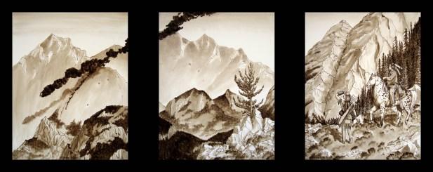 Title: Look Out, Artist: Sidney Eileen, Medium: ink on Aquabord