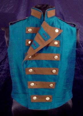 Colorful Violin Vest Final - Blue Side - One Side Folded