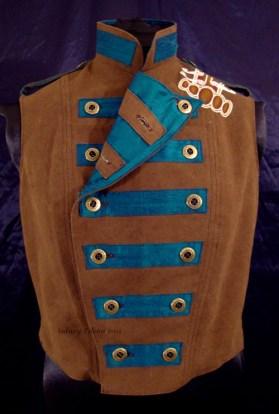 Colorful Violin Vest Final - Brown Side - One Fold, Short
