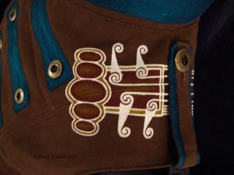 Colorful Violin Vest Final - Brown Side - Shoulder Detail