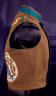 Colorful Violin Vest Final - Brown Side - Right Side