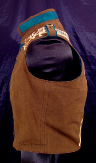 Colorful Violin Vest Final - Brown Side - Left Side