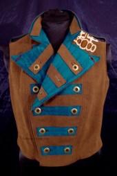 Colorful Violin Vest Final - Brown Side - Both Sides Folded