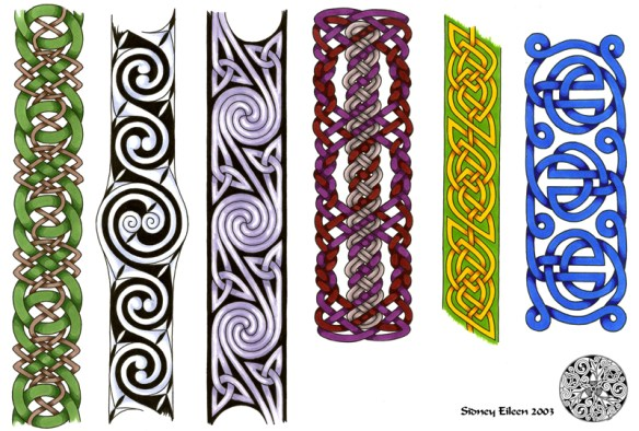 Title: Flash - Celtic Bands 1, Artist: Sidney Eileen, Medium: pen and marker on paper