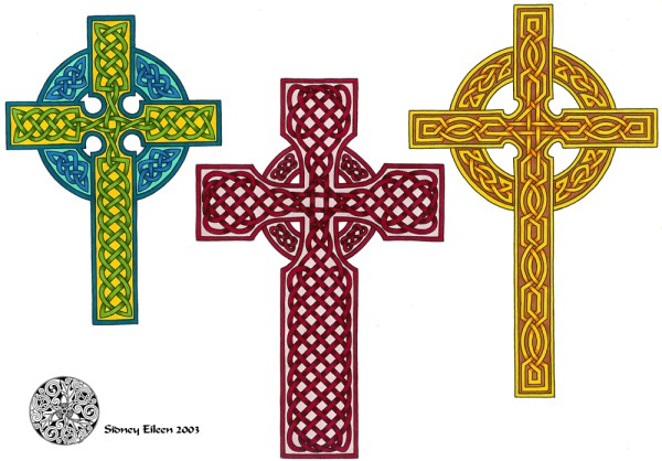 Title: Flash - Celtic Crosses 2, Artist: Sidney Eileen, Medium: pen and marker on paper