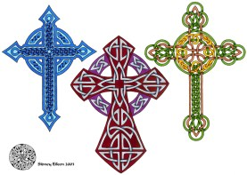 TItle: Flash - Celtic Crosses 3, Artist: Sidney Eileen, Medium: pen and marker on paper