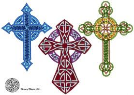TItle: Flash - Celtic Crosses 3, Artist: Sidney Eileen, Medium: pen and marker on paper