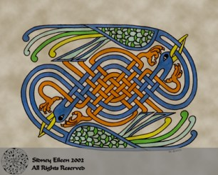 Title: Celtic Knotwork Cranes, Artist: Sidney Eileen, Medium: pen and marker on paper