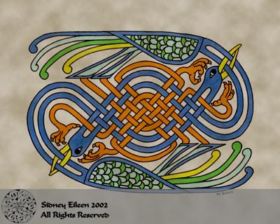 Title: Celtic Knotwork Cranes, Artist: Sidney Eileen, Medium: pen and marker on paper