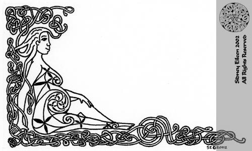 Title: Knotwork Mother, Artist: Sidney Eileen, Medium: pen on paper
