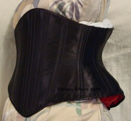 Reversible Waist Cincher - Black Side - Quarter Front View, by Sidney Eileen