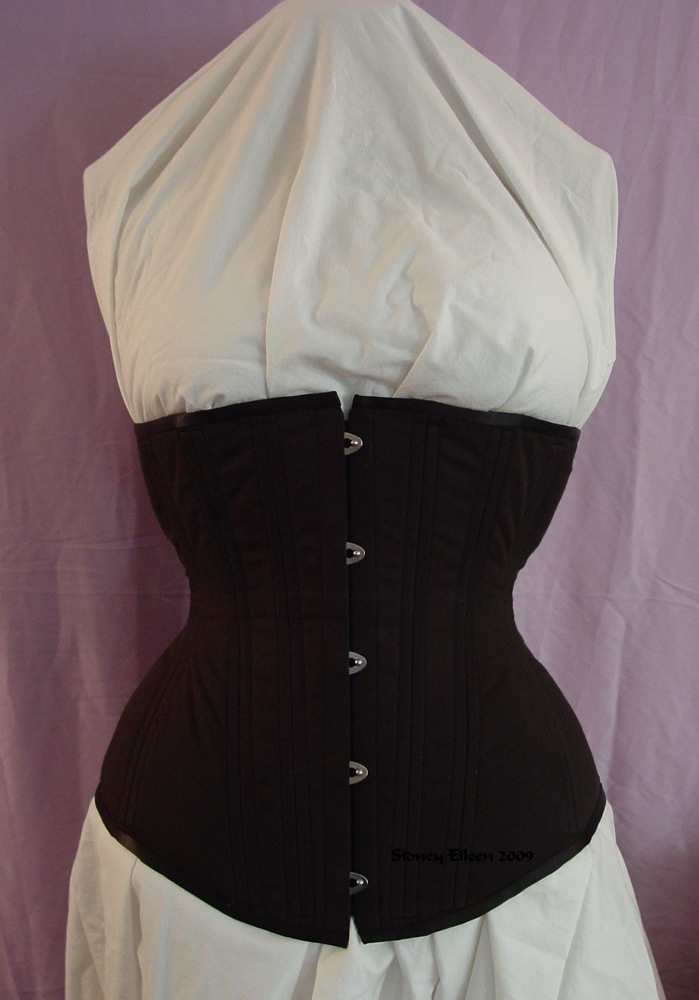 Plain Black Underbust - Front View, by Sidney Eileen