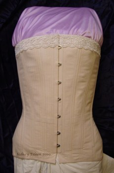 Plus-Sized Edwardian Long Line Overbust - Front View, by Sidney Eileen
