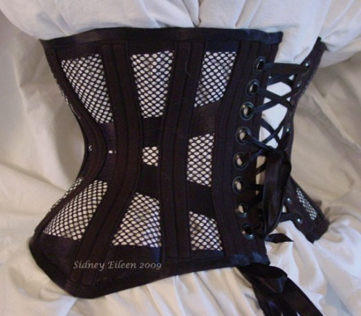 Tight Lacing Mesh Underbust - Quarter Back View, by Sidney Eileen