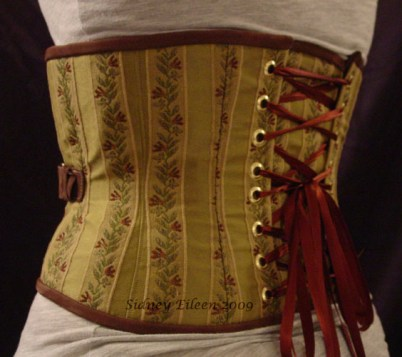 Brocade and Leather Steam - Quarter Back View, by Sidney Eileen