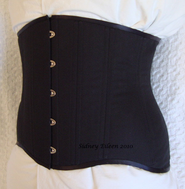 Black Low-Hipped Underbust - Quarter Front View, by Sidney Eileen