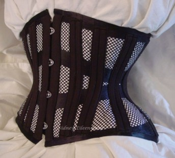 Tight Lacing Mesh Underbust - Quarter Front View, by Sidney Eileen