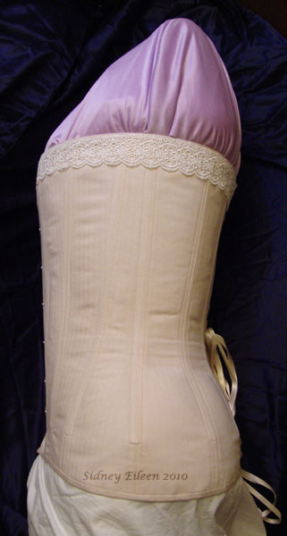 Plus-Sized Edwardian Long Line Overbust - Side View, by Sidney Eileen