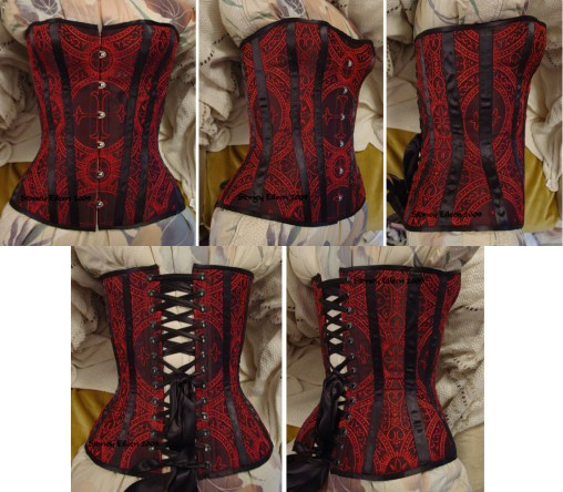 Gothic Brocade Overbust - All Views, by Sidney Eileen
