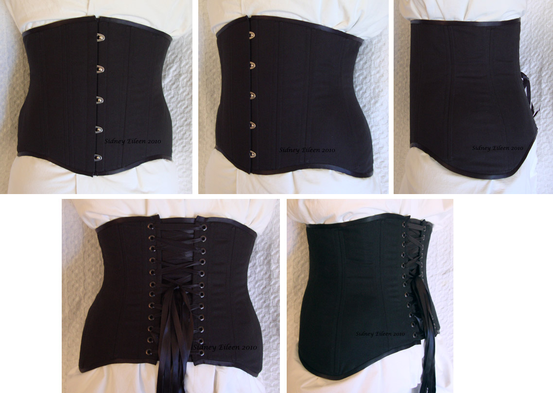 Black Low-Hipped Underbust - All Views, by Sidney Eileen