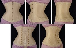 Cream Silk Underbust with Lace Edging - All Views, by Sidney Eileen
