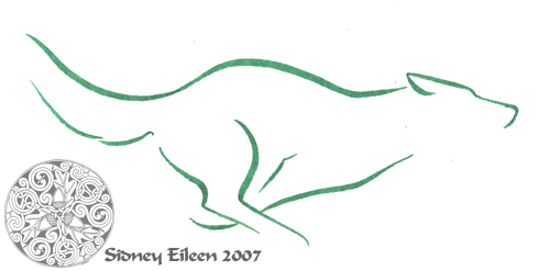 Title: Min. Running Wolf 1, Artist: Sidney Eileen, Medium: brush marker on paper