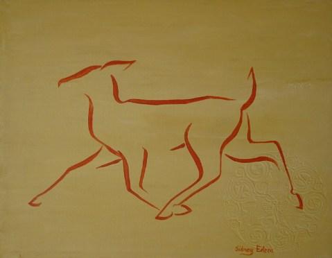 Title: Min. Orange Doe, Artist: Sidney Eileen, Medium: acrylic on canvas