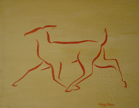 Title: Min. Orange Doe, Artist: Sidney Eileen, Medium: acrylic on canvas