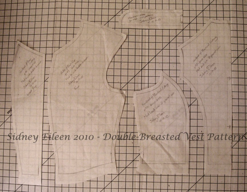 Colorful Violin Vest Prototype - Pattern