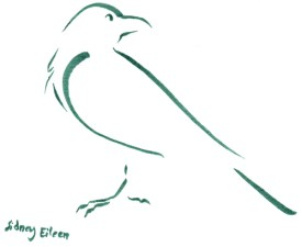Title: Min. Raven 1, Artist: Sidney Eileen, Medium: brush marker on paper