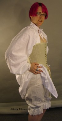 Linen Partlet and Cotton Bloomers, by Sidney Eileen
