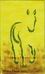 Title: Min. Walking Horse 1, Artist: Sidney Eileen, Medium: acrylic on canvas