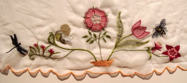 Scalloped Veil - Back of Embroidery, by Sidney Eileen