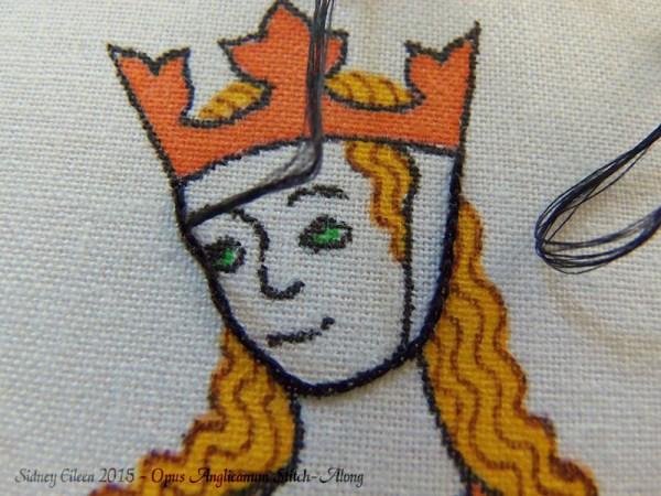 Opus Anglicanum Stitch-Along 017, by Sidney Eileen