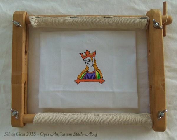 Opus Anglicanum Stitch-Along 02, by Sidney Eileen