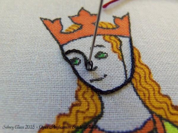 Opus Anglicanum Stitch-Along 023, by Sidney Eileen
